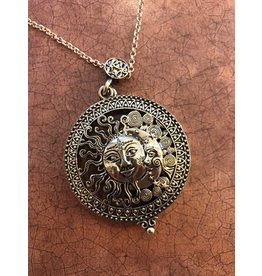 Magnifying Sun & Moon Necklace