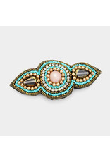 Beaded Glass Crystal Barrette