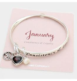 Month Charm Bracelet