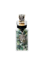 Gemstone Turtle Bottle Necklace