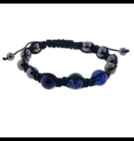 Magnetic Hematite & Sodalite Bracelet