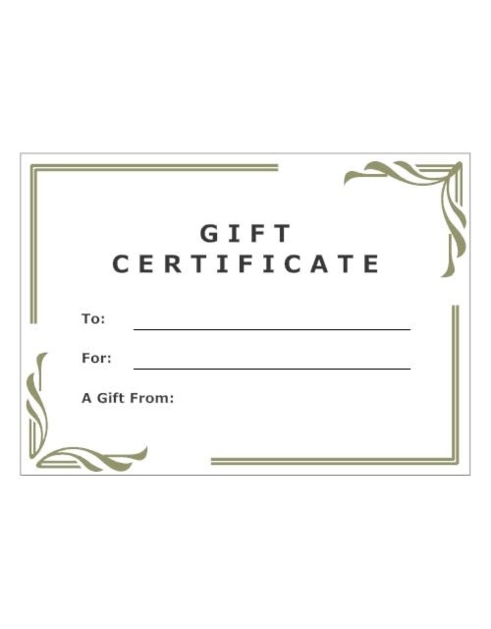 Riverside Treasures Gift Certificate