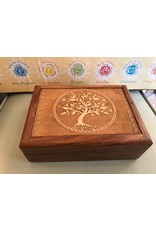 Hand Carved Tree of Life Jewelry Box