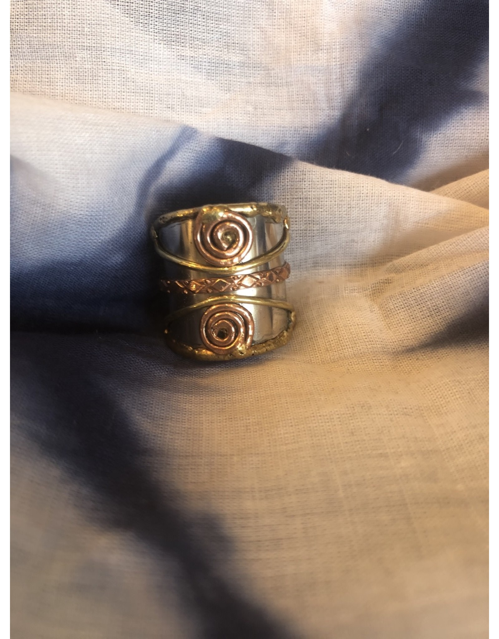 Mixed Metal Cuff Ring