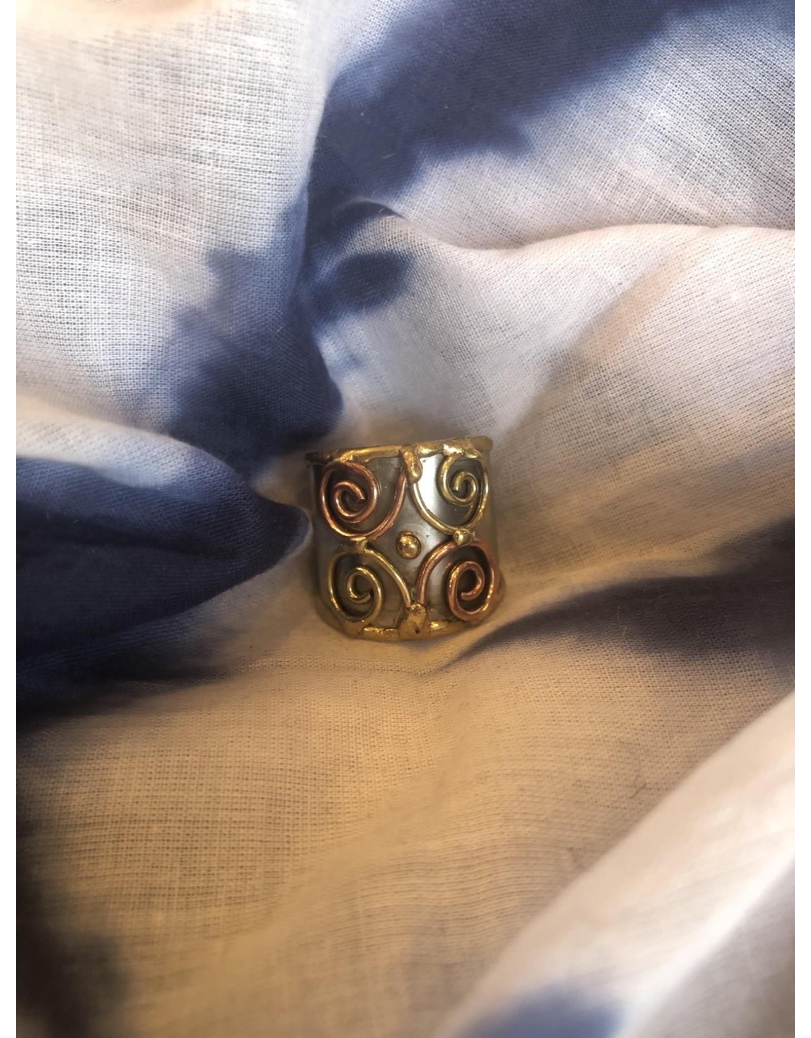 Mixed Metal Cuff Ring