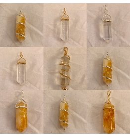 Double Terminated Crystal Necklaces
