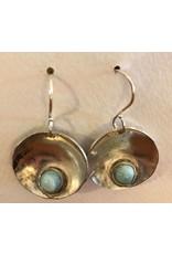 Hematite & Sterling Earrings by Jess Dunbar