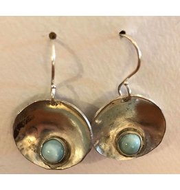Hematite & Sterling Earrings by Jess Dunbar