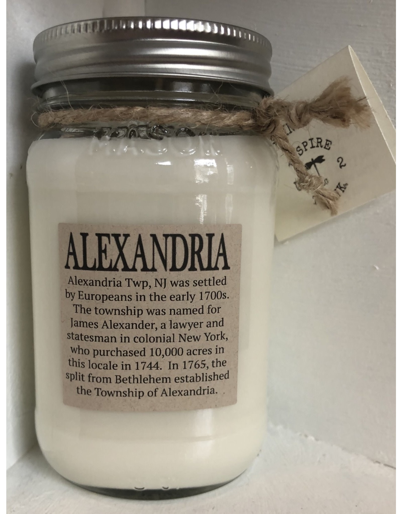 Mason Jar Candle (state/town)