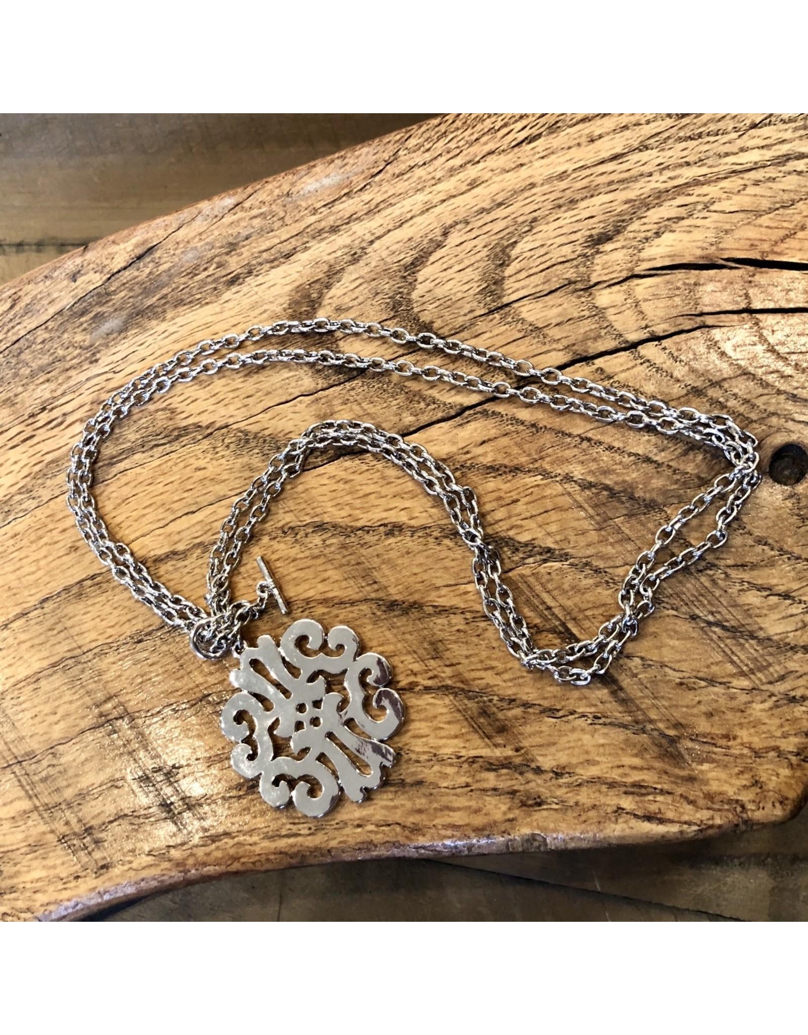 Filigree Toggle Necklace