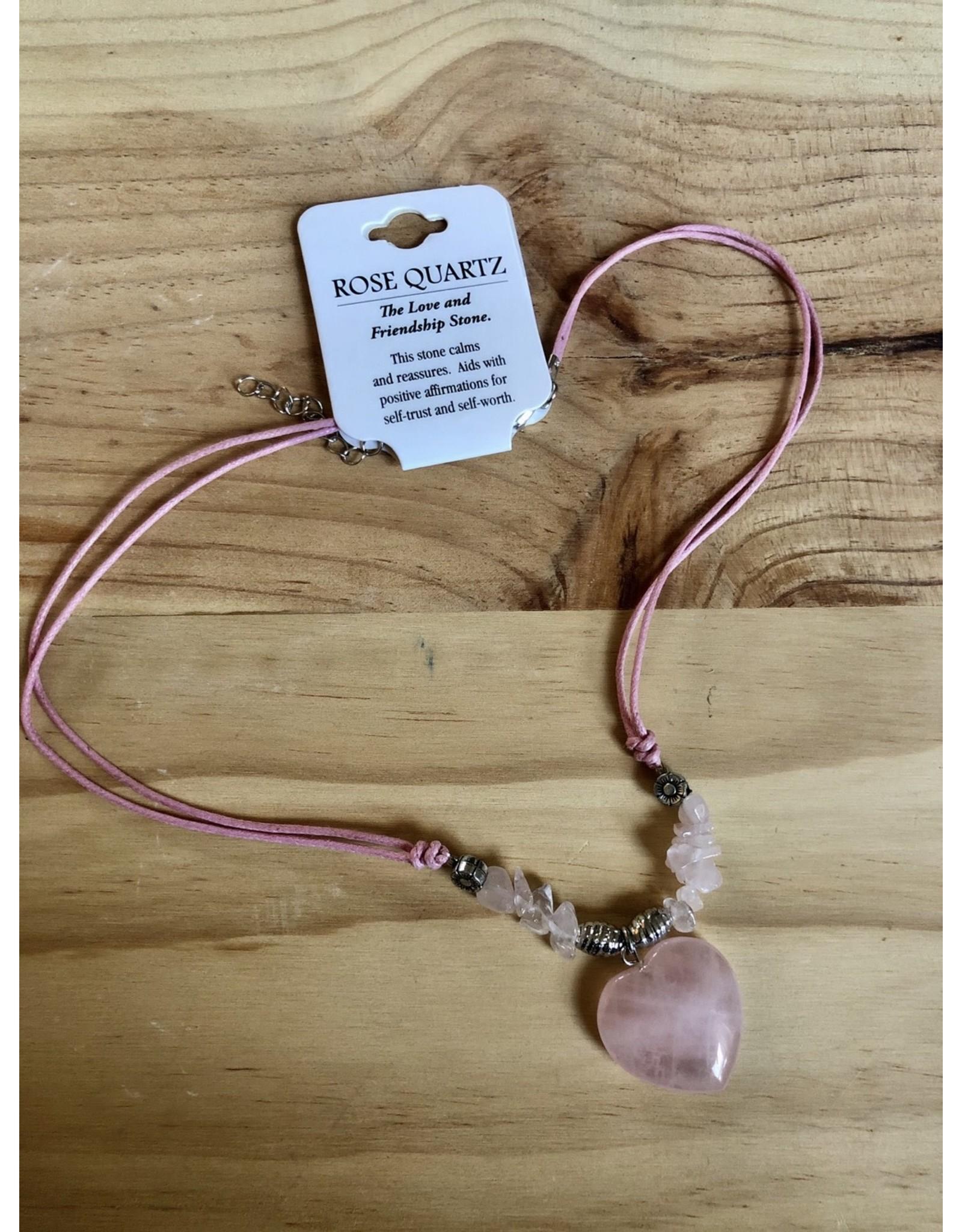 Heart Gemstone Necklace