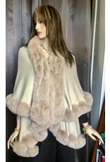 Fur Trimmed Double Cape