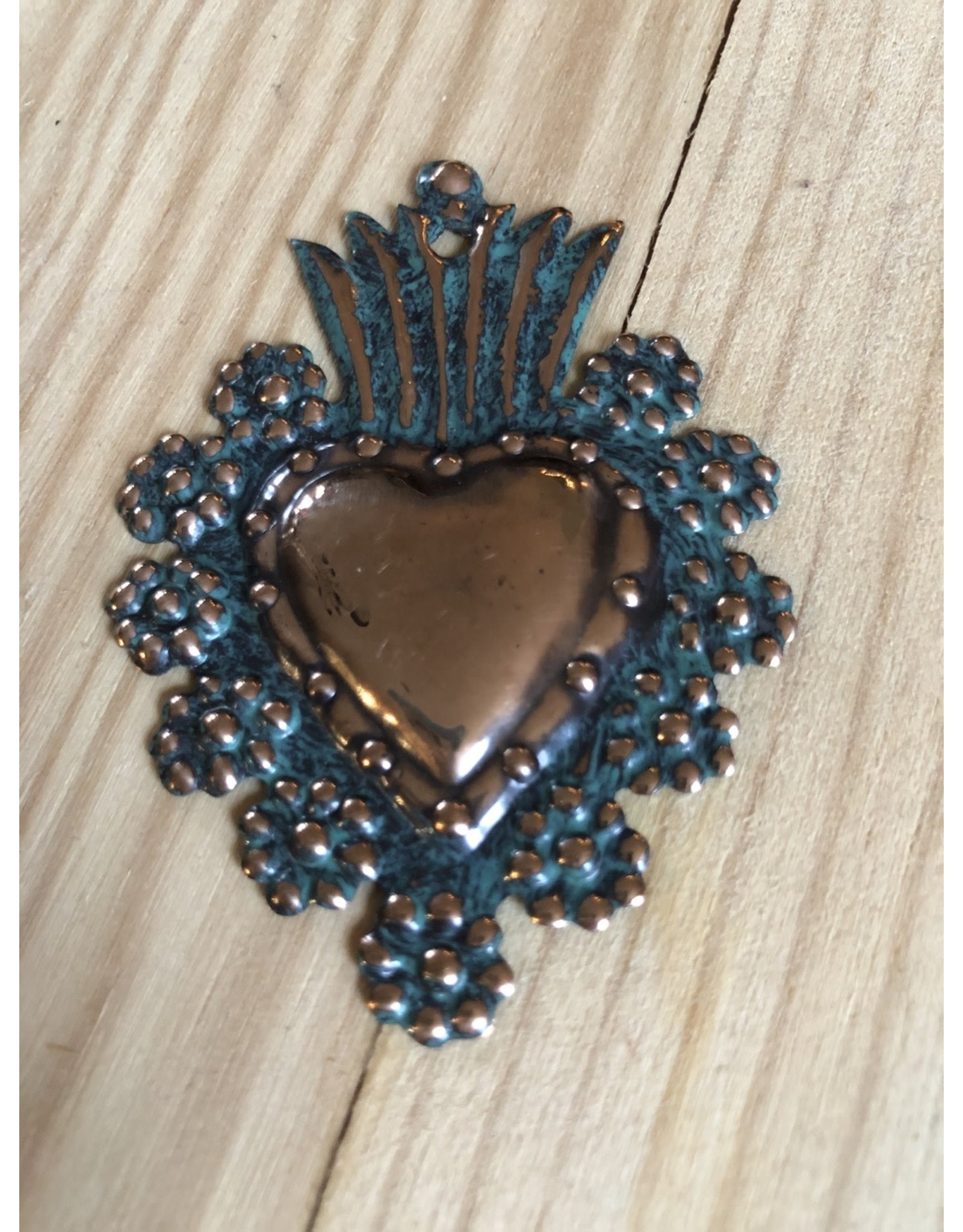 Copper Stamped Heart