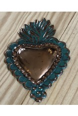 Hand Stamped Copper Heart (Large)