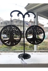 Tree of Life Hand Carved Earrings