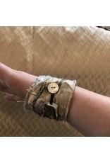 Fiber Art Cuff Bracelet