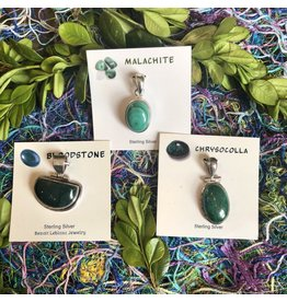 Sterling Gemstone Pendants