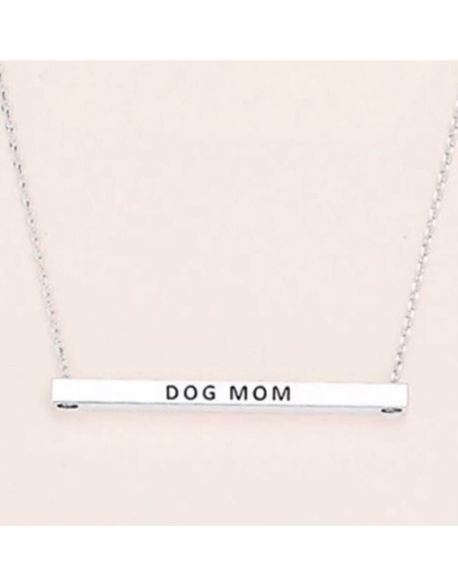 Dog Mom/Cat Mom Bar Necklace