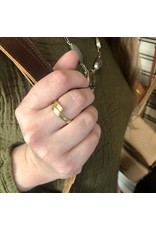 Vine Twisted Hammered Metal Ring