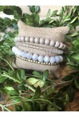 Quadruple Strand Beaded Bracelet
