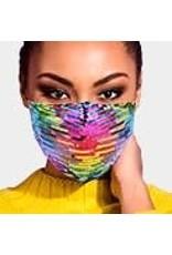 Rainbow  Sequined Masks