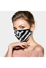 Zebra Sequin Mask