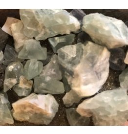Green Fluorite Rough Cut