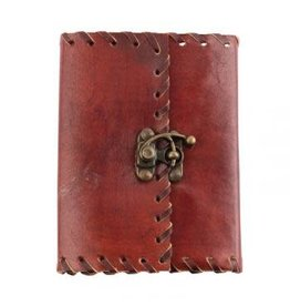 Leather Journal with Brass Clasp