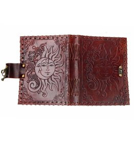 Sun/Moon Leather Journal
