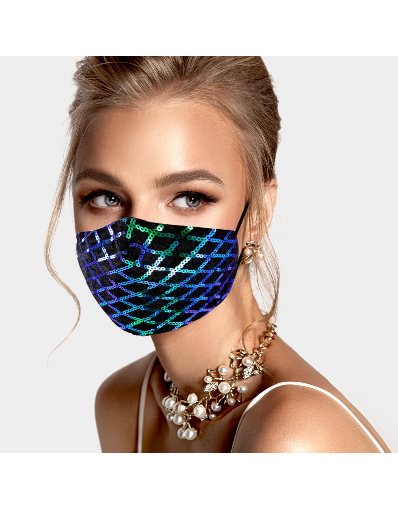 Teal Sequin Mask