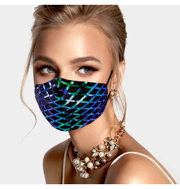 Teal Sequin Mask