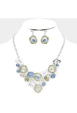 Abstract Circles Necklace & Earrings Set