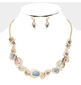 Leaf Necklace & Earring set