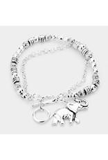 Silver Toggle Clasp Bracelet w/ Charm