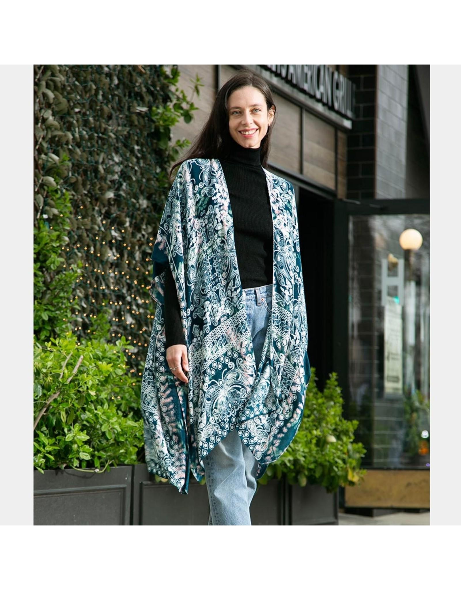 Blue Pattern Kimono