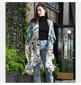 Boho Olive Kimono