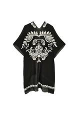 Black W/ Ivory Embroiderery Kimono
