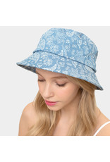 Denim Paisley Bucket Hat