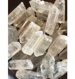Clear Quartz points supports overall well-being, amplifies intentions & other crystals properties
