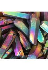 Rainbow Aura Quartz helps with stress & has loving, positive vibrations