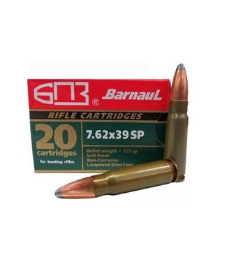 BARNAUL BARNAUL 7.62X39MM - 125GR (SP) - (20 CARTRIDGES)