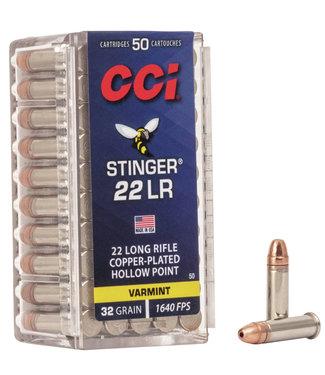 CCI CCI .22 LR - 32GR (CPHP) - STINGER - VARMINT (50 CARTRIDGES)