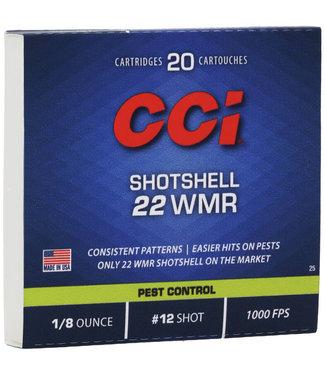CCI CCI .22 WMR - 1/8 OZ - #12 SHOT - RIMFIRE SHOTSHELL - PEST CONTROL (20 CARTRIDGES)