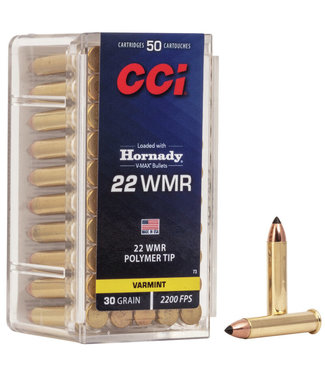 CCI CCI .22 WMR - 30GR (POLYMER TIP) - VMAX BULLETS - VARMINT (50 CARTRIDGES)