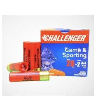 """CHALLENGER CHALLENGER 28-GAUGE - 2.75"""" - #4 SHOT - LEAD & SPORTING (25 SHOTSHELLS)"""