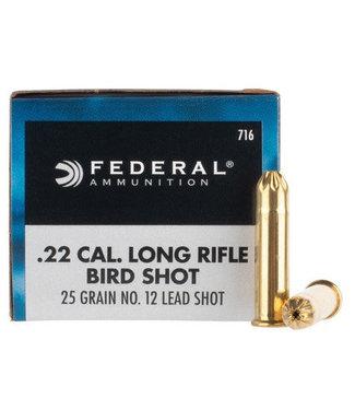 FEDERAL FEDERAL .22 LR - #12 LEAD BIRD SHOT - SMALL GAME (50 CARTRIDGES)