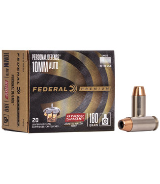 FEDERAL FEDERAL 10MM AUTO - 180GR (JHP) - HYDRA-SHOK - PERSONAL DEFENCE (20 CARTRIDGES)