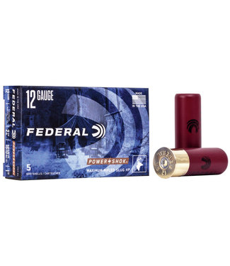 "FEDERAL FEDERAL 12-GAUGE - 2.75"" - MAGNUM RIFLED SLUG (HP) - POWER-SHOK (5 SHOTSHELLS)"