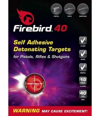 FIREBIRD FIREBIRD FIREBIRD 40 - SELF-ADHESIVE DETONATING TARGET (40MM - PISTOLS, RIFLES & SHOTGUNS - 10-PACK)