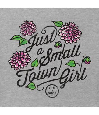 LIFE IS GOOD WOMEN'S LIFE IS GOOD JUST A SMALL TOWN GIRL TEE